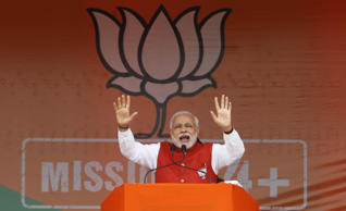 File: Indian Prime Minister Narendra Modi addresses an election campaign rally in Kathua, about 90 kilometers from Jammu, India