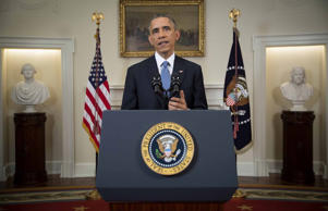 US President Barack Obama speaks to the nation about normalising diplomatic relations the Cuba in the Cabinet Room of the White House.