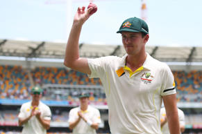 Josh Hazlewood of Australia leaves the field after taking five wickets during day two of the 2nd Test match between Australia and India at The Gabba on December 18, 2014 in Brisbane, Australia.