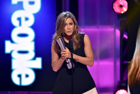 Actress Jennifer Aniston accepts Movie Performance of the Year - Actress onstage during the PEOPLE Magazine Awards at The Beverly Hilton Hotel on December 18, 2014 in Beverly Hills, California.