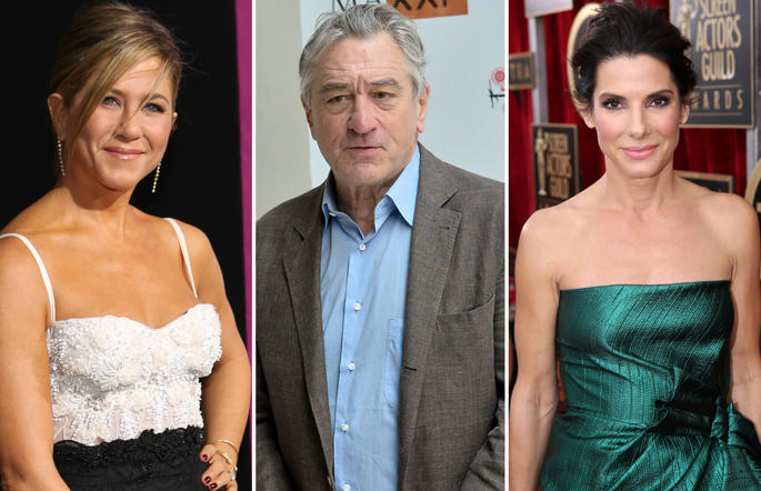 Jennifer Anniston, Robert De Niro and Sandra Bullock