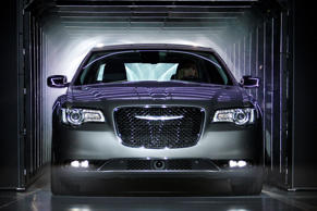 The Chrysler 300 makes its debut at the 2014 Los Angeles Auto Show on November 19, 2014 in Los Angeles, California.