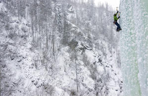 Ascending ice formations such as frozen waterfalls, snowy cliffs and rocks covered with ice gives adrenaline rush to many adventure seekers. Climbing water ice is a bigger technical challenge than alpine ice, which is basically frozen precipitation, and has more in common with glacier travel.