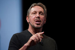 Larry Ellison, chairman of Oracle Corp., speaks during the Oracle OpenWorld 2014 conference in San Francisco, California, U.S., on Tuesday, Sept. 30, 2014. Oracle Corp. joins the cloud wars for commodity services that are being waged between Amazon, Microsoft and Google -- the three largest cloud providers. Photographer: David Paul Morris/Bloomberg *** Local Caption *** Larry Ellison