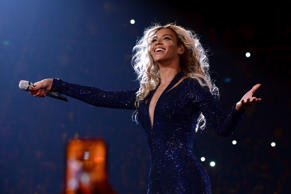 Entertainer Beyonce performs on stage during 'The Mrs. Carter Show World Tour' at the Barclays Center on December 19, 2013 in New York