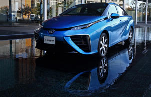A Toyota Motor Corp. Mirai fuel-cell powered vehicle is displayed during the launch event in Tokyo, Japan, on Tuesday, Nov. 18, 2014. Toyota will start selling its Mirai fuel-cell vehicle next month for 7.24 million yen ($63,000), which Japan will subsidize with the aim of repeating the success of the world's most popular hybrid. Tomohiro Ohsumi/Bloomberg