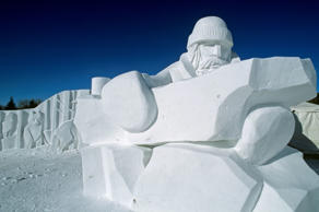 Snow sculpture at the Festival du Voyager, Winnipeg, Manitoba, Canada.
