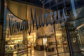 Neiman Marcus Inc. signage is displayed on the window of a store in San Francisco, California, U.S., on Tuesday, July 2, 2013. Neiman Marcus Inc., operator of the luxury department-store chain, filed for an initial public offering in the U.S. after also exploring a private sale.