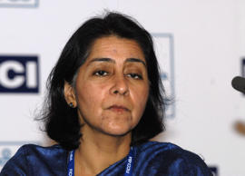 File: Naina Lal Kidwai, country head and chief executive officer of HSBC India speaks at the Global Banking conference in Mumbai, India