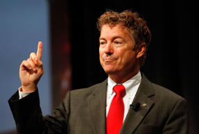 U.S. Senator Rand Paul speaks at the Defending the American Dream Summit sponsored by Americans For Prospertity at the Omni Hotel in Dallas, Texas on August 29, 2014.