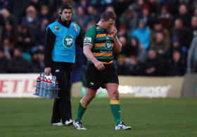 Dylan Hartley was sent off for elbowing Matt Smith during the win against Leicester
