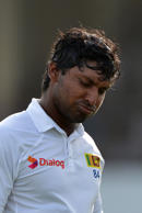Kumar Sangakkara and captain Angelo Matthews exited for one and a duck respectively before the tail wagged to a degree.