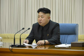 An undated picture released by the North Korean Central News Agency on 17 shows North Korean leader Kim Jong-un presiding over a meeting of the Central Military Commission of the ruling Workers' Party in Pyongyang, North Korea, to discuss ways to improve combat readiness and military capabilities.