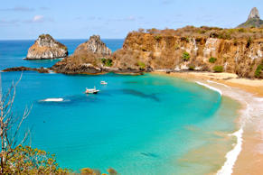 Baia do Sancho, one of Brazil's most beautiful beaches, located on Fernando de Noronha