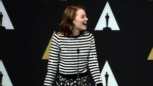 Oscars Nominee Luncheon 2015: Emma Stone Backstage Interview