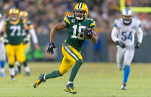 Green Bay Packers wide receiver Randall Cobb (18) during the game against the Detroit Lions at Lambeau Field on Dec. 28, 2014, in Green Bay, Wisc. Green Bay won 30-20.