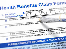 Health benefits claim form. Getty Images