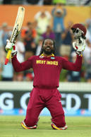 Gayle's first double ton & more crazy records