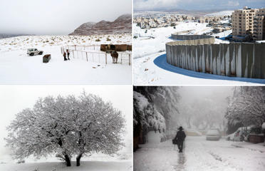 Beautiful snow images from Middle East