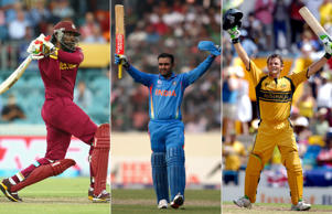 With his whirlwind 215 against Zimbabwe, Chris Gayle eclipsed Gary Kirsten's 19-year old record of 188* as the highest individual score in the World Cup history. Gayle's double-ton, which is also World Cup's first, is the fastest double ever, taking just 138 deliveries. We take a look at the 25 highest scores registered at World Cups