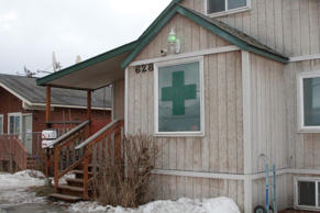 This Feb. 20, 2015 photo, shows the Alaska Cannabis Club in downtown Anchorage, Alaska.
