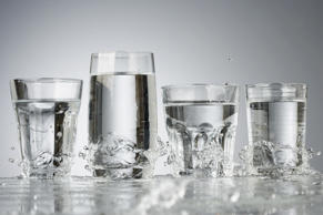 Water in glasses
