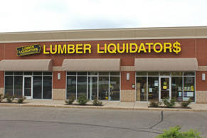 sign outside the Lumber Liquidators store 2015