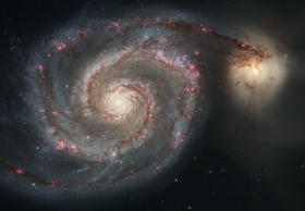 On Monday April 25, 2005, NASA and ESA released new views of two of the most well-known images Hubble has ever taken: the Eagle Nebula, and spiral galaxy M51(NGC5194), known as the Whirlpool Galaxy.