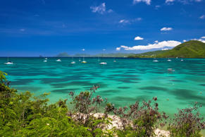 Marin Bay in Martinique, French West Indies