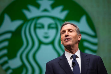 Howard Schultz, CEO of Starbucks, speaks during the company's annual shareholders meeting in Seattle, Washington March 19, 2014.
