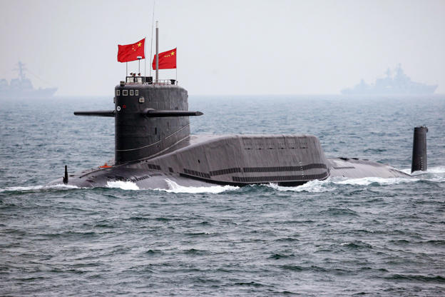 A Chinese Navy nuclear submarine takes part in an international fleet review to celebrate the 60th anniversary of the founding of the People's Liberation Army Navy in Qingdao, Shandong province April 23, 2009.