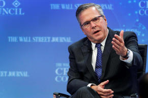 Former Florida governor Jeb Bush (R-FL) addresses the Wall Street Journal CEO Council in Washington December 1, 2014.