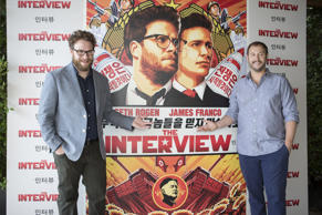 File Photo: Seth Rogen and Evan Goldberg attend the photocall of the movie 'The Interview'.