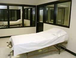 In this April 12, 2005 file photo is the death chamber at the Missouri Correctional Center in Bonne Terre, Mo.