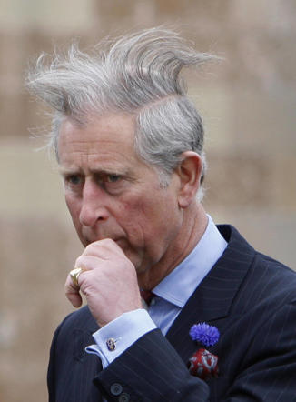 Prince Charles at a summer afternoon garden party hosted by Shau Woodward, Secretary of State for Northern Ireland in the historic Hillborough Castle.