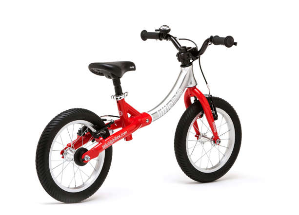 Designed by an Ireland engineer Simon Evans, a 6.6 kg cycle made from high-grade aluminium is specifically aimed for children between the ages of two to seven. It has three different adjustable sizes that allows you to increase the height of the bike as your child grows taller.