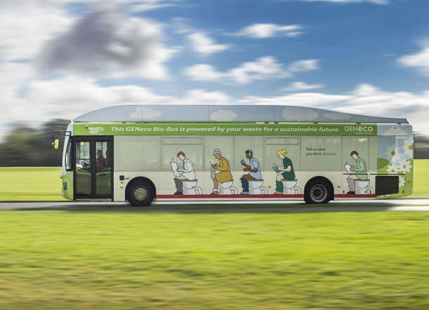 A UK based company has come up with a sustainable way of fuelling public transport by generating enough power on 40-seater Bio-Bus that can travel up to 300km on a full tank of treated food waste and human poo.