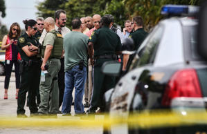 A gunman walked into a home that was for sale in Fort Lauderdale, Fla., on Thursday, Feb. 26, 2015, opening fire as a married couple visited the property with their real estate agent, killing the husband.