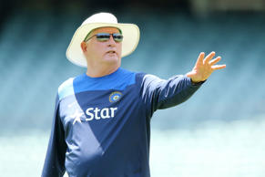 Duncan Fletcher of India gives instructions during an India training session at Adelaide Oval on November 29, 2014 in Adelaide, Australia.