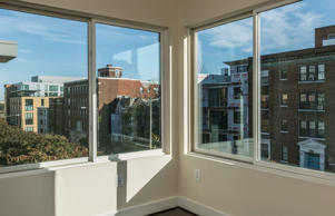The Second Bedroom with view of chapin Street in Unit 301 at the Victoria Condominium on November 3, 2014 in Washington DC.