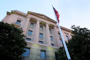 A May 14, 2013 photo shows the Department of Justice headquarters building in Washington.