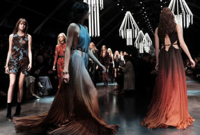 Here is a look at the new line by Roberto Cavalli that was showcased at the Milan Fashion Week.