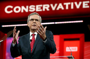 Jeb Bush speaks at the Conservative Political Action Conference at National Harbor in Maryland February 27, 2015.