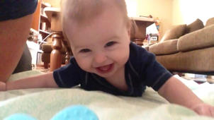 Happy Baby Can't Stop Laughing at Mom