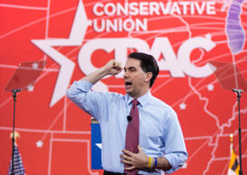 Governor Scott Walker (R-WI) speaks at the 42nd annual Conservative Political Action Conference (CPAC) at National Harbor, MD, Feb. 26, 2015.