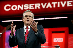Jeb Bush speaks at the Conservative Political Action Conference (CPAC) at National Harbor in Md., Feb. 27, 2015.