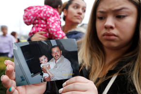 About 100 people attended a rally at Pasco City Hall for shooting victim Antonio Zambrano-Montes on Feb. 19, 2015 in Pasco, Wash. On Feb. 10, the unarmed Zambrano-Montes was reportedly shot several times by the police after running away from them. Pasco police said he was throwing rocks at the police and into the traffic when they attempted to subdue him in a mostly Latino neighborhood.