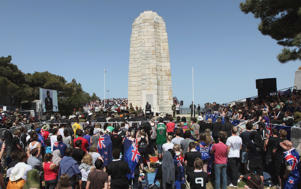 File Photo: Thousands of Australians and New Zealanders attend a commemoration at Chunuk Bair memorial, Gallipoli, Turkey.