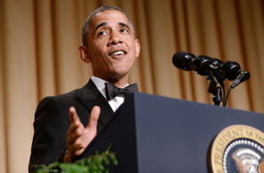 U.S. President Barack Obama speaks at the annual White House Correspondent's Association Gala at the Washington Hilton hotel May 3, 2014 in Washington, D.C. The dinner is an annual event attended by journalists, politicians and celebrities. Olivier Douliery/Getty Images