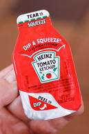 Bad news for ketchup lovers. One of the main ingredients in ketchup is high fructose corn syrup. Those sugar totals are sure to add up fast. Best to avoid ketchup all together.